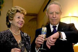 Il Presidente Ciampi con la moglie Franca in attesa dell'inizio del nuovo anno