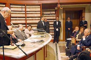 """Il Presidente Ciampi alla cerimonia di apertura del convegno su """"Paolo Bufalini, un politico e un intellettuale nella storia dell'Italia Repubblicana"""