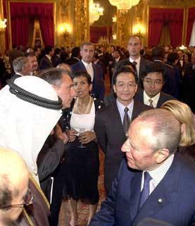 Il Presidente Ciampi nel corso del ricevimento al Quirinale dei Capi di Stato e di Governo, a margine del Vertice Mondiale FAO.