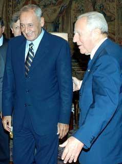 Il Presidente Ciampi accoglie nel suo studio, Nabih Berri, Presidente dell'Assemblea Nazionale Libanese.