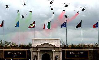 Uno dei momenti delle simulazioni organizzate in occasione della Festa dell'Esercito.
