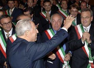 Il Presidente Ciampi al suo arrivo al Palazzo della Provincia.