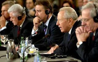 Il Presidente Ciampi durante il suo intervento al XVII Vertice dei Capi di Stato dei Paesi dell'Europa Centrale