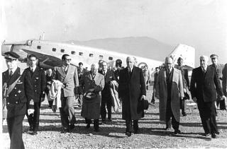 Il Presidente della Repubblica Enrico De Nicola con Umberto Terracini