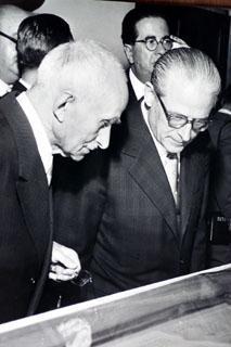 Il Presidente della Repubblica Luigi Einaudi con Giovanni Gronchi