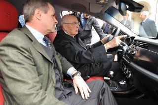 """Il Presidente Giorgio Napolitano nel corso della presentazione della nuova vettura Alfa Romeo """"Giulietta"""""""