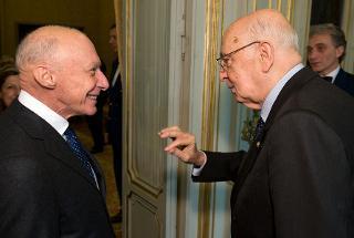 Il Presidente Giorgio Napolitano con Guido Alpa, Presidente del Consiglio Nazionale Forense