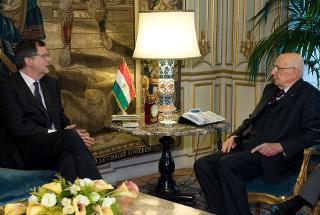 Il Presidente Giorgio Napolitano a colloquio con il nuovo Presidente della Consob, Giuseppe Vegas