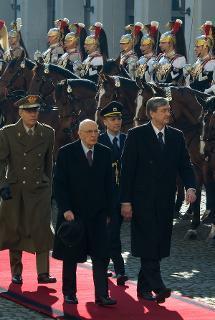 Il Presidente Giorgio Napolitano con il Presidente della Repubblica di Slovenia Danilo Türk