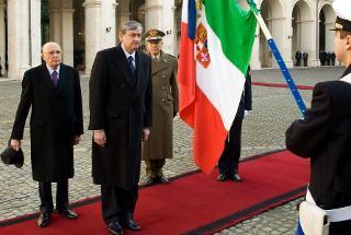 Il Presidente Giorgio Napolitano con il Presidente della Repubblica di Slovenia Danilo Türk in visita di Stato in Italia