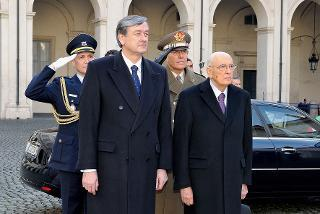 Il Presidente Giorgio Napolitano con il Signor Danilo Türk, Presidente della Repubblica Slovena in visita di Stato in Italia