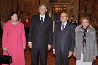 Il Presidente Giorgio Napolitano con il Signor Danilo Türk, Presidente della Repubblica Slovena e le rispettive consorti