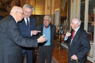 Il Presidente Giorgio Napolitano con il Comitato Esecutivo dell'Associazione Nazionale Perseguitati Politici Italiani Antifascisti