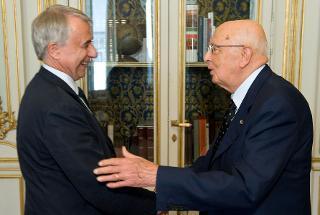 Il Presidente Giorgio Napolitano accoglie il Sindaco di Milano Giuliano Pisapia