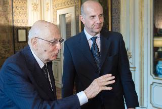 Il Presidente Giorgio Napolitano con Alessandro Pansa, nuovo Capo della Polizia di Stato