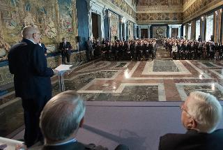 Il Presidente Giorgio Napolitano rivolge il suo indirizzo di saluto ai Magistrati ordinari in tirocinio