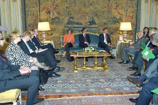 Il Presidente Giorgio Napolitano con il Sig. Jyrki Katainen, Primo Ministro della Repubblica di Finlandia durante i colloqui