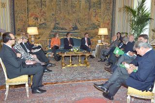 Il Presidente Giorgio Napolitano nel corso dell'incontro con il Sig. Jyrki Katainen, Primo Ministro della Repubblica di Finlandia