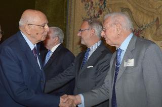 Il Presidente Giorgio Napolitano con l'On. Prof. Luigi Berlinguer in occasione dell'inaugurazione dell'Assemblea generale della Rete Europea dei Consigli di Giustizia e celebrazione del 10° anniversario di Costituzione della Rete