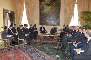 Il Presidente Giorgio Napolitano con il Primo Ministro della Repubblica Popolare Cinese Li Keqiang, durante i colloqui con le delegazioni ufficiali