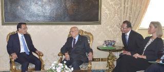 Il Presidente Giorgio Napolitano con Li Keqiang, Primo Ministro della Repubblica Popolare Cinese durante i colloqui