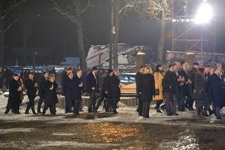 Il Presidente del Senato nell'esercizio delle funzioni del Presidente della Repubblica Sen. Pietro Grasso, nel corso della Processione al Monumento delle Vittime di Birkenau per il 70° anniversario della liberazione del campo di concentramento di Auschwitz - Birkenau