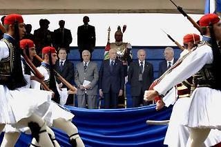 Un momento della rassegna per la Festa della Repubblica su via dei Fori Imperiali, alla presenza del Presidente della Repubblica Giorgio Napolitano e delle più Alte cariche Istituzionali, Civili e Militari