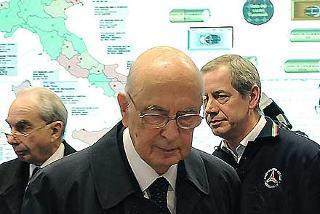 Il Presidente Giorgio Napolitano con il Ministro dell'Interno Giuliano Amato e il Capo del Dipartimento della Protezione Civile, Guido Bertolaso in occasione della cerimonia di chiusura del programma di aiuti alle popolazioni colpite dallo Tsunami