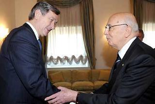 Il Presidente Giorgio Napolitano con il Presidente della Repubblica di Slovenia Danilo Turk