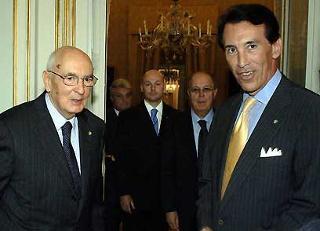 Il Presidente Giorgio Napolitano con Ken Ciongoli, Presidente della NIAF