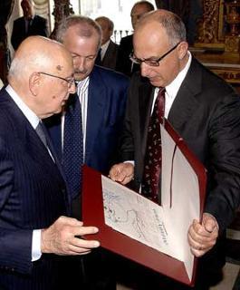 Il Presidente Napolitano con De Marco