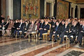 Il Presidente Giorgio Napolitano in un momento della cerimonia della commemorazione del Giorno del Ricordo