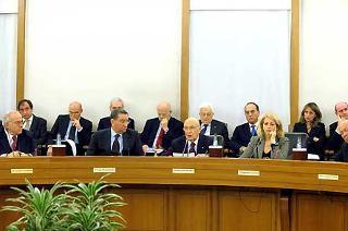 Il Presidente Giorgio Napolitano durante il suo intervento al CSM