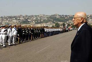Il Presidente Giorgio Napolitano alla cerimonia per il 232° Anniversario di Fondazione della Guardia di Finanza