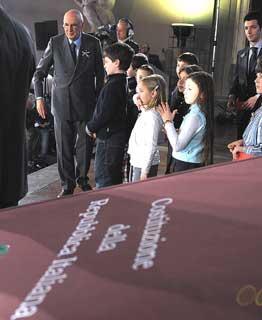 Il Presidente Giorgio Napolitano a Palazzo Vecchio, per i 60 anni della Costituzione.