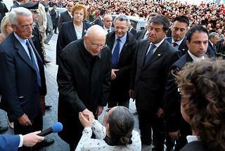 Il Presidente Giorgio Napolitano nel pomeriggio di oggi a Palazzo Ducale