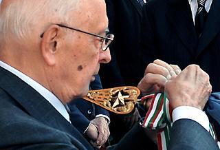Il Presidente Giorgio Napolitano alla celebrazione del 187° anniversario della costituzione del Corpo Forestale dello Stato