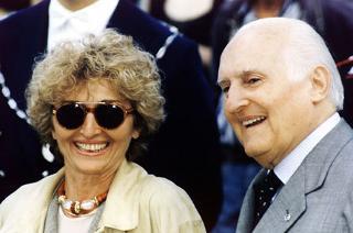 Il Presidente della Repubblica Oscar Luigi Scalfaro con la figlia Marianna