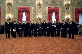 Giuramento II governo Berlusconi 11 giugno 2001
