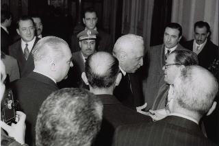 Il Capo Provvisorio dello Stato Enrico De Nicola si reca in Campidoglio per il Congresso del fanciullo, 1 luglio 1946