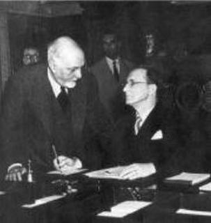 Alcide De Gasperi e Carlo Sforza