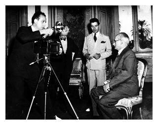 Il Presidente della Repubblica Luigi Einaudi durante una intervista