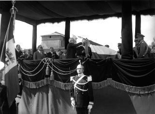 Il Presidente della Repubblica Luigi Einaudi alla Festa della Guardia di Finanza