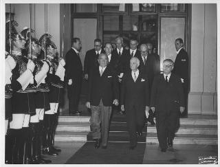 Arrivo al Quirinale del Presidente della Repubblica Antonio Segni per la cerimonia di insediamento